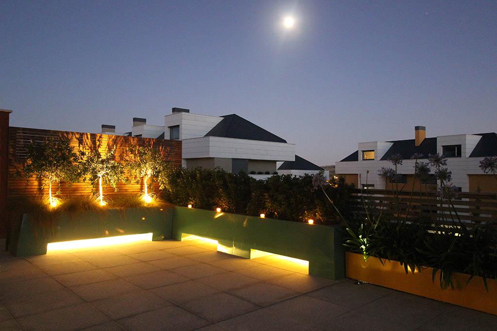iluminación de terrazas