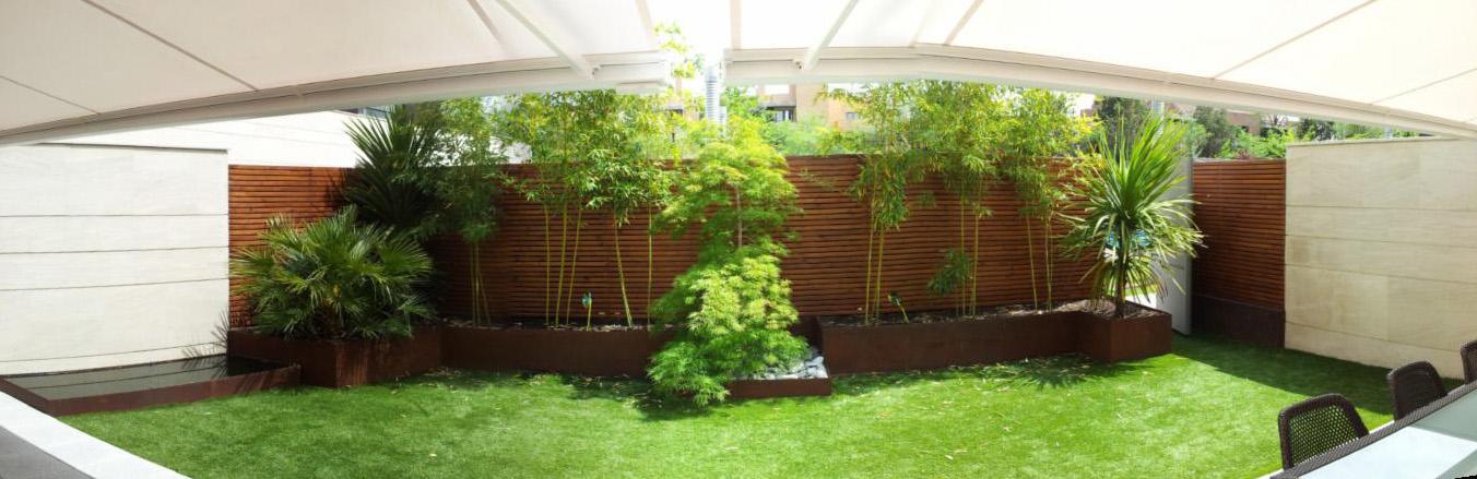 El acero corten en la decoraci n de exteriores un jardin - Decoracion de exteriores jardines ...