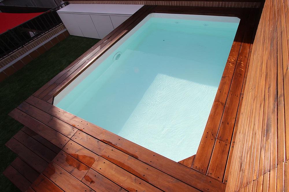 Dise o y construcci n de piscinas un jardin para mi - Piscinas para aticos ...
