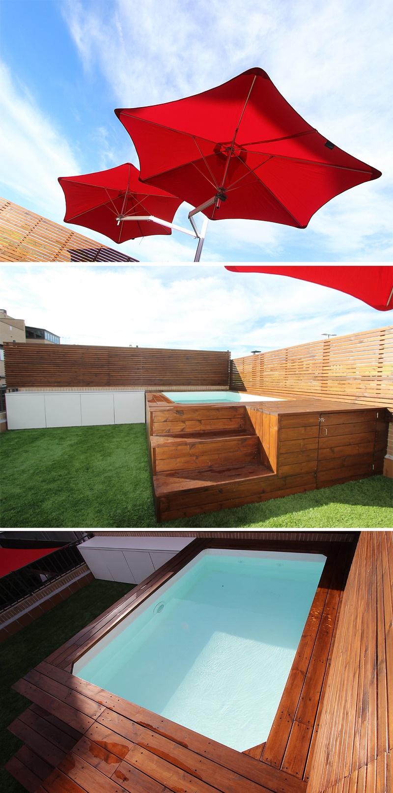 Peque o jardin con piscina un jardin para mi for Jardines pequenos con piscina