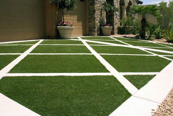 Cesped artificial para diseño de jardines