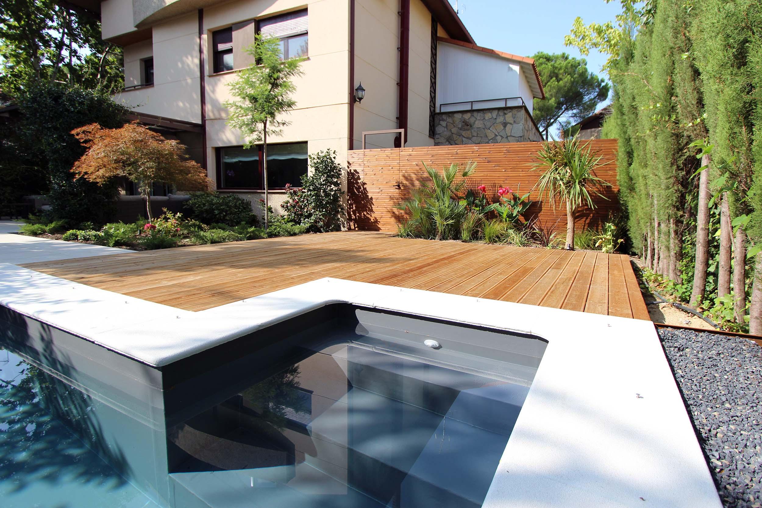 Piscinas de dise o para jardines peque os un jardin para mi for Diseno piscina
