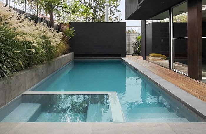 Jardines peque os con piscina o jacuzzi un jardin para mi - Jacuzzi para terrazas ...