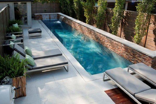 Jardin pequeño con piscina - Un Jardin para mi