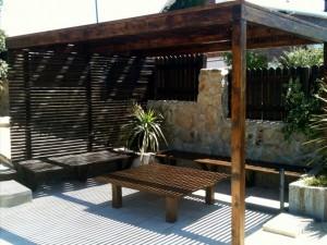 banco mesa madera el boalo