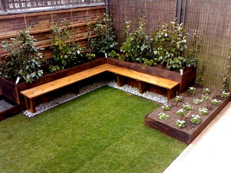 Dise o de un jard n peque o porque los peque os cambios - Jardineras para jardin ...