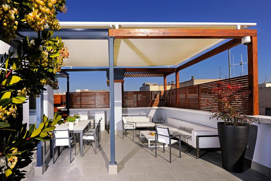 Terraza de diseño. El arte en los pequeños espacios
