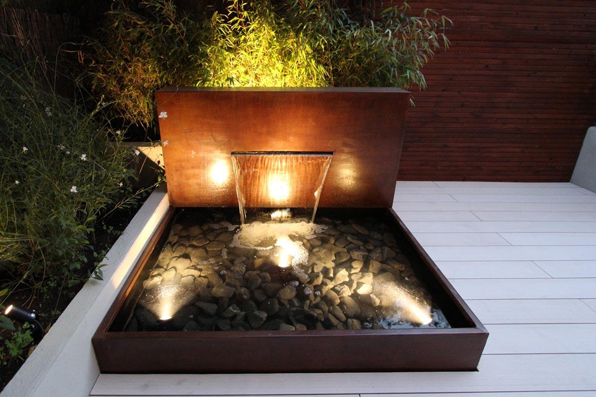 iluminación de fuentes de jardín | Un jardín para mi