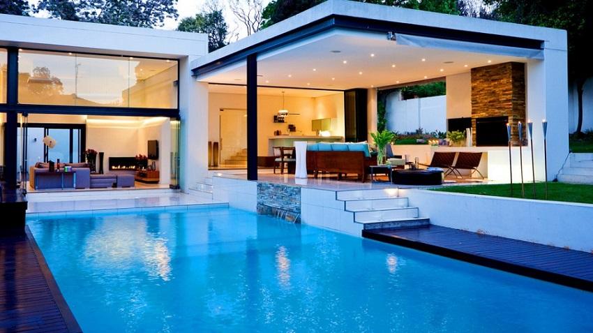 Pool House, un Jardín en dos espacios